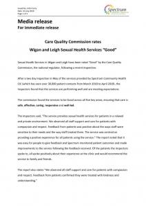 thumbnail of Media release Wigan CQC FINAL